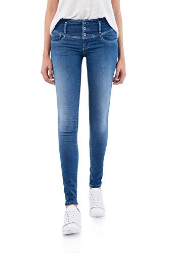 Salsa Jeans Secret, Slim Fit, mit Glanzeffekt