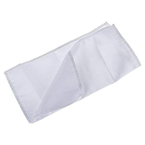 Ogquaton Pañuelo Pañuelo de bolsillo Traje toalla de bolsillo Pecho bufanda Accesorio para bodas de negocios informal formal Fiesta y fiesta Blanco