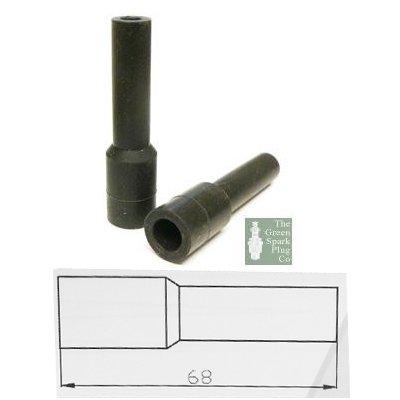 10x HT Silikon PVC ISOLATOREN FÜR Zündkerze - 7mm 8mm gerade schwarz
