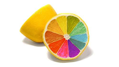 Bdgjln Puzzle 1000 Piezas-Limón de Color-Adolescentes Adultos, Rompecabezas, Juego de Rompecabezas, ilustración, impresión en HD-50x75cm