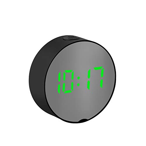shenlanyu Despertador Digital Mirror Thermometer Rectangle Escritorio multifunción