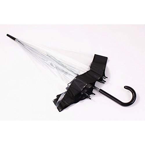 Paraguas de boda para hombre y mujer, paraguas automático de 8 huesos, transparente, plegable, 2 paquetes, 60 x 84 x 88 cm