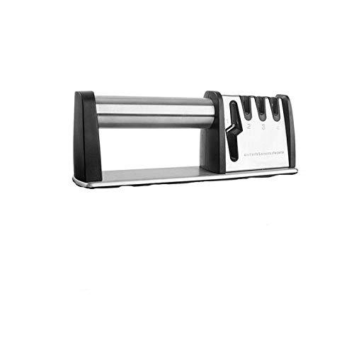 XIAOHAO Afilador de Cuchillos de Cocina 4 en 1, afilador de Cuchillos Manual con Base Antideslizante, Adecuado para Cocina/Mini afilador de Cuchillos multifunción portátil para Exteriores