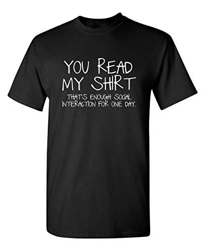 Enough Social Interaction Graphic Novelty T Shirt 5XL Black