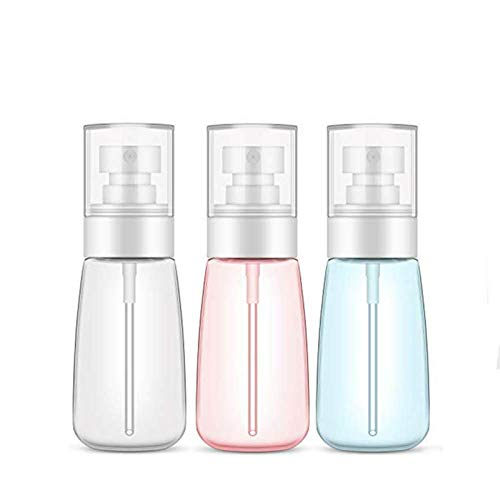 ZZYYLL Plastic Spray Bottle, 3 Pack 60ml/2oz Spray Bottles, Refillable Mini Travel Bottles Liquid Containers for Cleaning Products, Perfume, Essential Oils