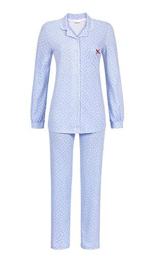 Ringella Damen Pyjama durchgeknöpft ciel 42 9511212, ciel, 42