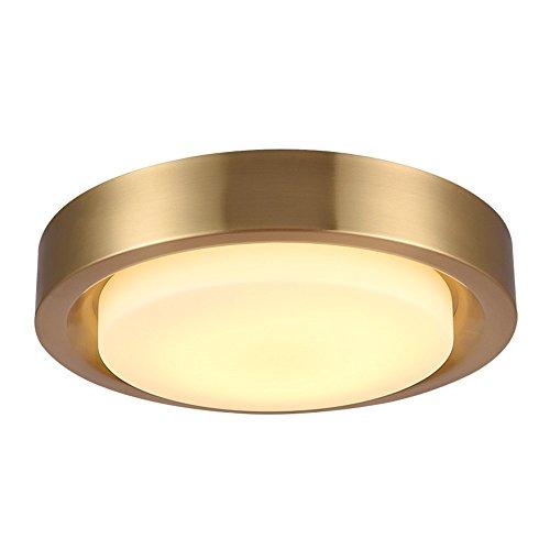 5151BuyWorld Lamp Post Modern Plafonniers Ronds Nordiques Tout En Or Cuivre De Luxe Foyer Chambre Salle À Manger Plafonniers LED Plafond Monté Lampe Qualité Supérieure {Blanc Froid & Diam. 47 CM}