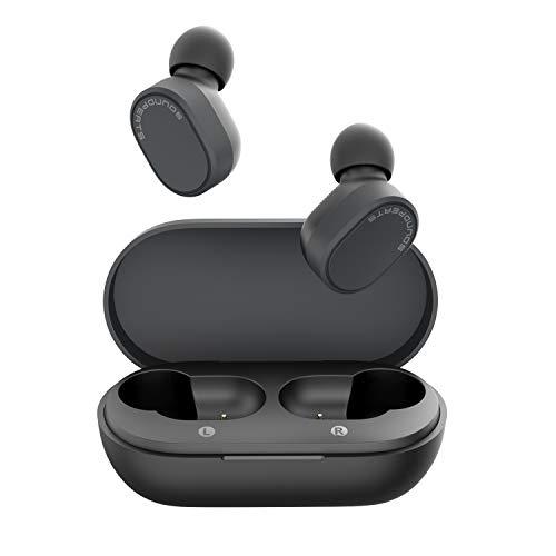 SoundPEATS Audífonos Bluetooth, Auriculares Bluetooth 5.0 In-Ear IPX5 Impermeable QCC3020 APTX Mini Audífonos Inalámbricos Deportivos Estéreo Sonido de Alta Definición, Manos Libres Micrófono Incorporado Control Tactil 22Horas con Caja de Carga Portátil para iOS y Android [Nueva Versión