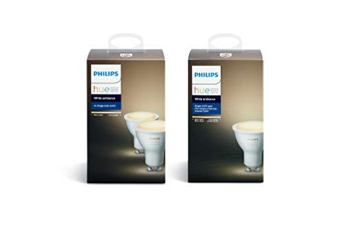Philips Hue Lot de 3 Ampoules connectées White Ambiance GU10 - Fonctionne...