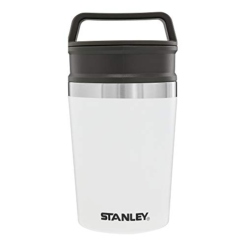 Stanley Adventure Shortstack Vacuum Travel Mug, 8oz Thermal Coffee Mug, Insulated Stainless Steel Cup with Drink-Thru Lid and Leak-Proof Cover with Handle, Coffee Tumbler for Work, Hiking, and Camping