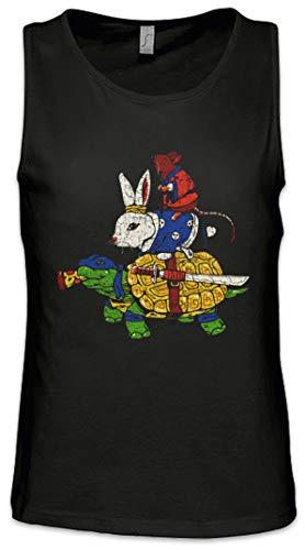 Urban Backwoods Animal Fighters Hombre Camiseta Sin Mangas Men Tank Top Negro Talla S