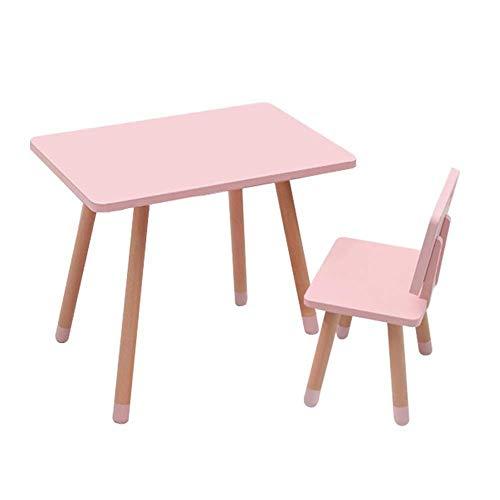 NfudishpuChildren's Tabouret de Table Toddler Tables Chaises Kindergarten Baby Learn Bureaux Ensembles de Bureau Meubles pour Enfants Safety Smooth Stable Activity Table, 4 Colors Study Table (Color: