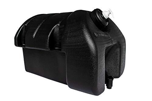 UNITRAILER Jerrican Agua de plástico 30 litros con jabón, color negro