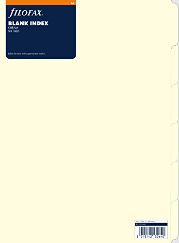 Filofax 291683 Register A4, blanko, creme