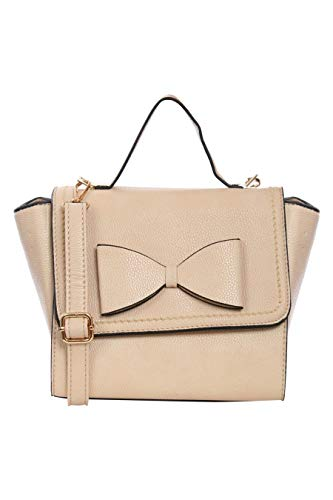 Pilot Pilot Women's Cream Bow Detail Winged Tote Bag in Brown, size One Size