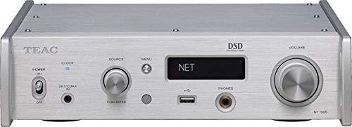 Teac NT-505 Netzwerk-Spieler/USB-D/A-Wandler mit Kopfhörerverstärker 32Bit/768kHz DSD 512, Silber