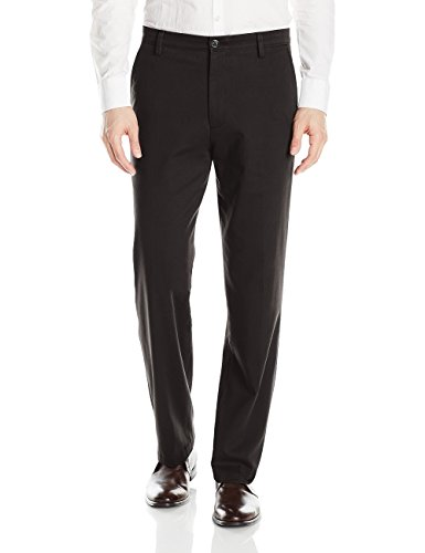 Dockers Men's Big and Tall Classic Fit Easy Khaki Pant - Pleated, Black (Stretch), 46W x 32L