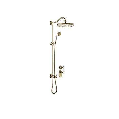 TRES-CLASIC Kit de ducha termostático empotrado con cierre y regulación de caudal (2 vías). · Cuerpo