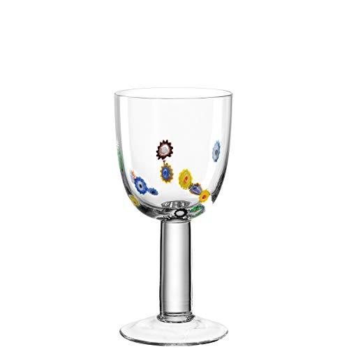 Leonardo 017189 Millefiori Set de 6 Verres à Vin Blanc