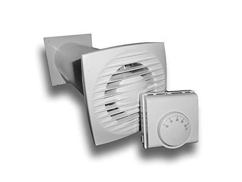 Warmluftverteiler Set Wärmeverteilung automatisch temperaturgesteuert Ventilator Lüfter wärmegesteuert temperaturgesteuert