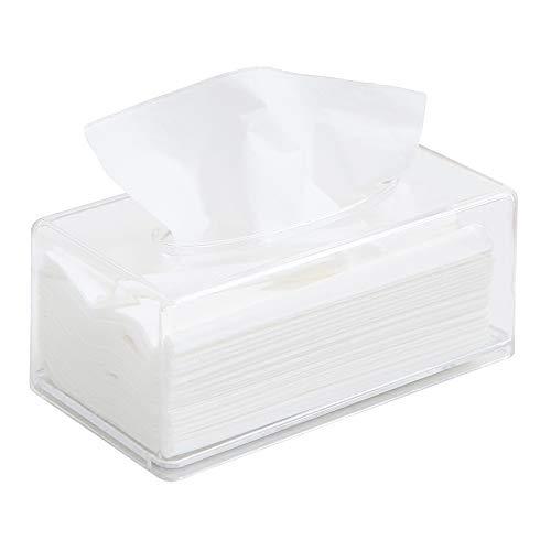 aoory - Soporte para Caja de pañuelos y dispensador de servilletas (acrílico), Transparente