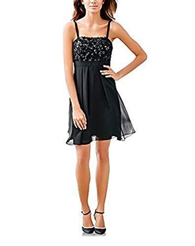 Kleid Cocktailkleid von Ashley Brooke - Schwarz Gr. 46