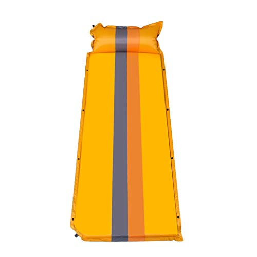 Isomatten Freizeit-Selbstaufblasende Kampierende Matte Im Freien Mit Farben Der Kissen-aufblasbaren Schlaflager-Rollenmatratze 3 (Color : Orange)