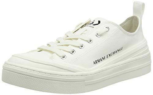 Armani Exchange Sneaker, Zapatillas Mujer, Blanco (Opt White+White A222), 41 EU