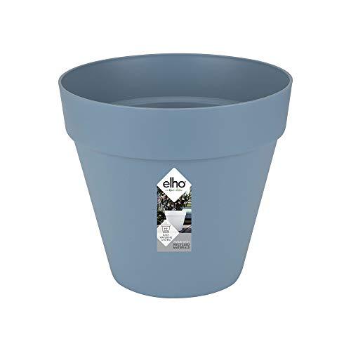 Elho Loft Urban Rund 30 - Blumentopf für Außen - Ø 28.5 x H 26 - Vintage Blau