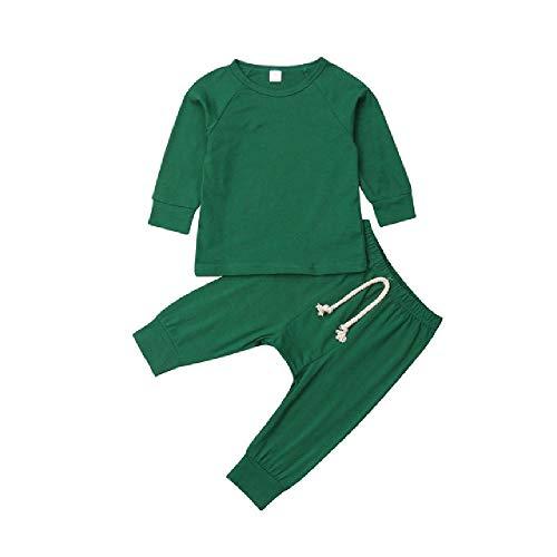 Niños Niño Niña Ropa Pijamas sólidos Conjunto Ropa de Dormir Ropa