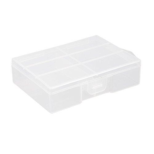 sourcingmap Boîte de Piles Transparentes portatives récipient Protecteur Stockage pour 24pcs AAA Piles