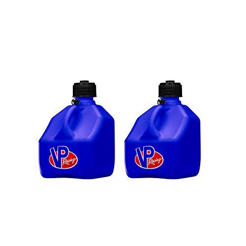 VP Racing Fuels 3 Gallon Square Heavy Duty Racing Utility Jug, Blue (2 Pack)