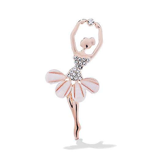 Elf Brooch Rhinestone Ballet Girl Brooch Wedding Bridal Rhinestone Brooch Pin for Women Brooch Pin Decoration Gift Valentine Brooch Pin Jewelry for Girls