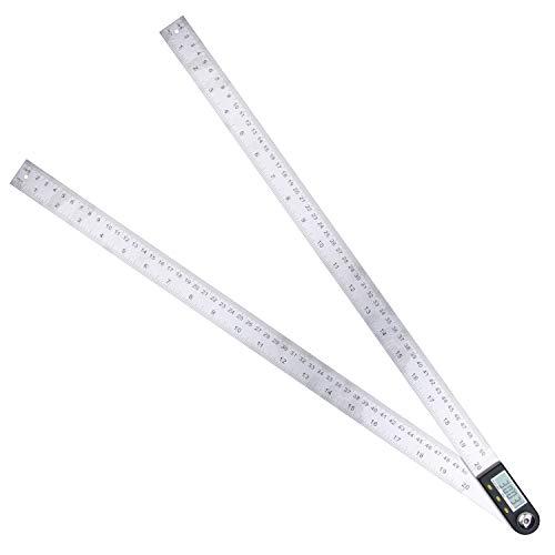 Yangoutool Digital Angle Ruler,Stainless Steel Digital Angle Finder and Digital Protractor(20 Inch/500 Mm)