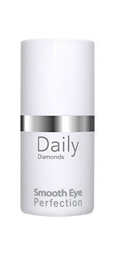 Anti-Aging Augencreme von DAILY Diamonds - Smooth Eye Perfection 15 ml - bekämpft Fältchen Augenringe Schlupflider mit wertvollen pflanzlichen Stammzellen