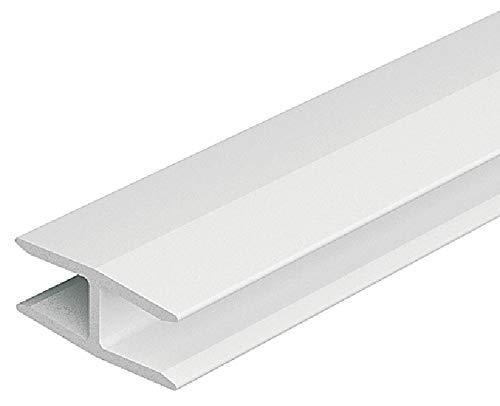 Gedotec Stabilisator für Kleider-Schrank Möbel-Verbinder für Rückwand Schrankverbinder Befestigen | H3502 | 1000 mm | Kunststoff weiß | für Rückwanddicke 4-5 mm | 1 Stück
