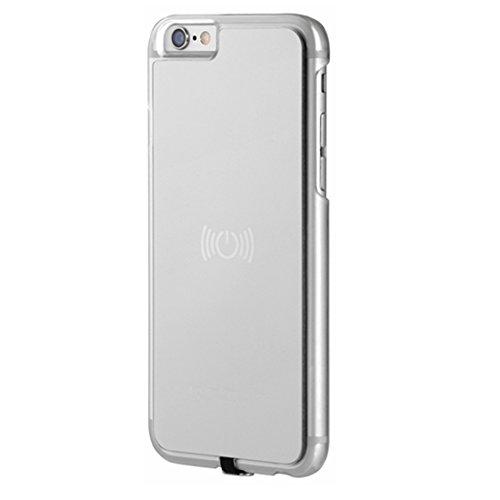 hanende Receptor Inalámbrico Caso, Qi Inalámbrico Carga Caso con Flexible Conector Compatible con iPhone 6 Plus / 6S Plus (Plata)