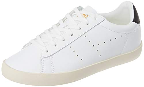 Gola Damen Nova Leather Sneaker, White/Black, 41 EU