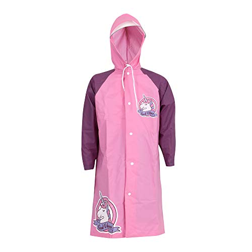 WIKI, From House of WILDCRAFT Boy's Sprinkle Regular fit Raincoat (8903338268079_Pink_4-6 Years)