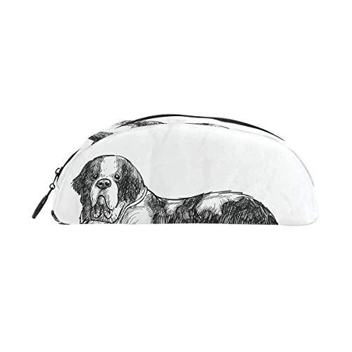 Potlood Hoesje Houders Dier Sint Bernard Leuke Hond Pen briefpapier Zakje met Rits Make-up voor Meisjes Jongens