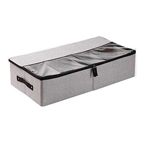 WYJRF Caja de Almacenamiento Caja de Acabado, Organizador de Almacenamiento de Ropa Plegable con Ventana Transparente con Cremallera Resistente para Zapatos, Ropa, Juguetes (Col (Alta ca