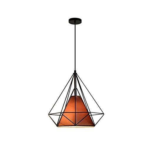 LIUYU Luces Pendientes Led lámpara Colgante Moderna pirámide de Diamante Retro Birdcage nórdica lámpara Industrial Cocina Comedor (Body Color : Brown no Bulb, Size : Gratis)