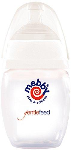 Mebby Biberon Gentlefeed 280 ml Blanc - Lot de 2