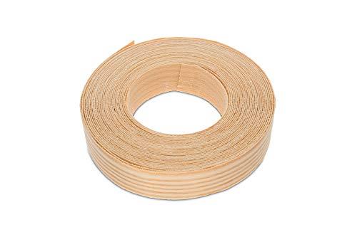 22 mm breites und 7,5 m langes Einfassung-Furnier in Kiefer-Holz-Optikzum Aufbügeln