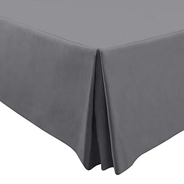 Utopia Bedding Premium 100% Cotton Bed-Skirt Dust Ruffle (Queen, Grey) - Durable, Comfortable, Abrasion Resistant, Quadruple Pleated – Machine Washable