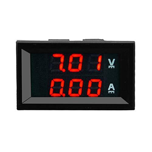 100 V 10A DC Digital Voltmeter Amperemeter Blau + Rot Zweifarbige Anzeige LED Amp Dual Digital Voltmeter Messgerät 2 in1 Multimeter (farbe: Rot)