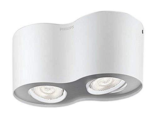 Philips 533023116 Phase Luminaire d'Intérieur Spot LED Métal Blanc 4,5 W