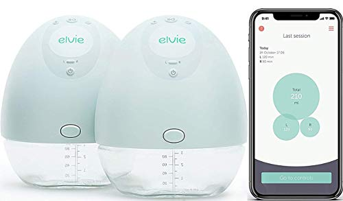 Elvie Pump Double Silent Wearable Breast Pump with App - Electric Hands-Free Portable Breast That...