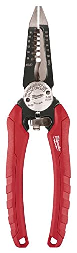 MILWAUKEE'S 48-22-3079 6-In-One Combination Wire Stripping and Reaming Pliers for Electricians