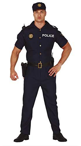 FIESTAS GUIRCA Disfraz de policía de Hombre de Barrio Americano